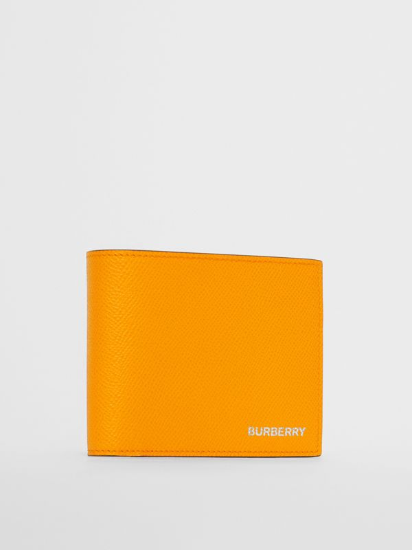 Leather International Bifold Wallet in Bright Orange - Men | Burberry Singapore - cell image 3