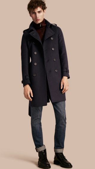 Trench-coat en cachemire et laine