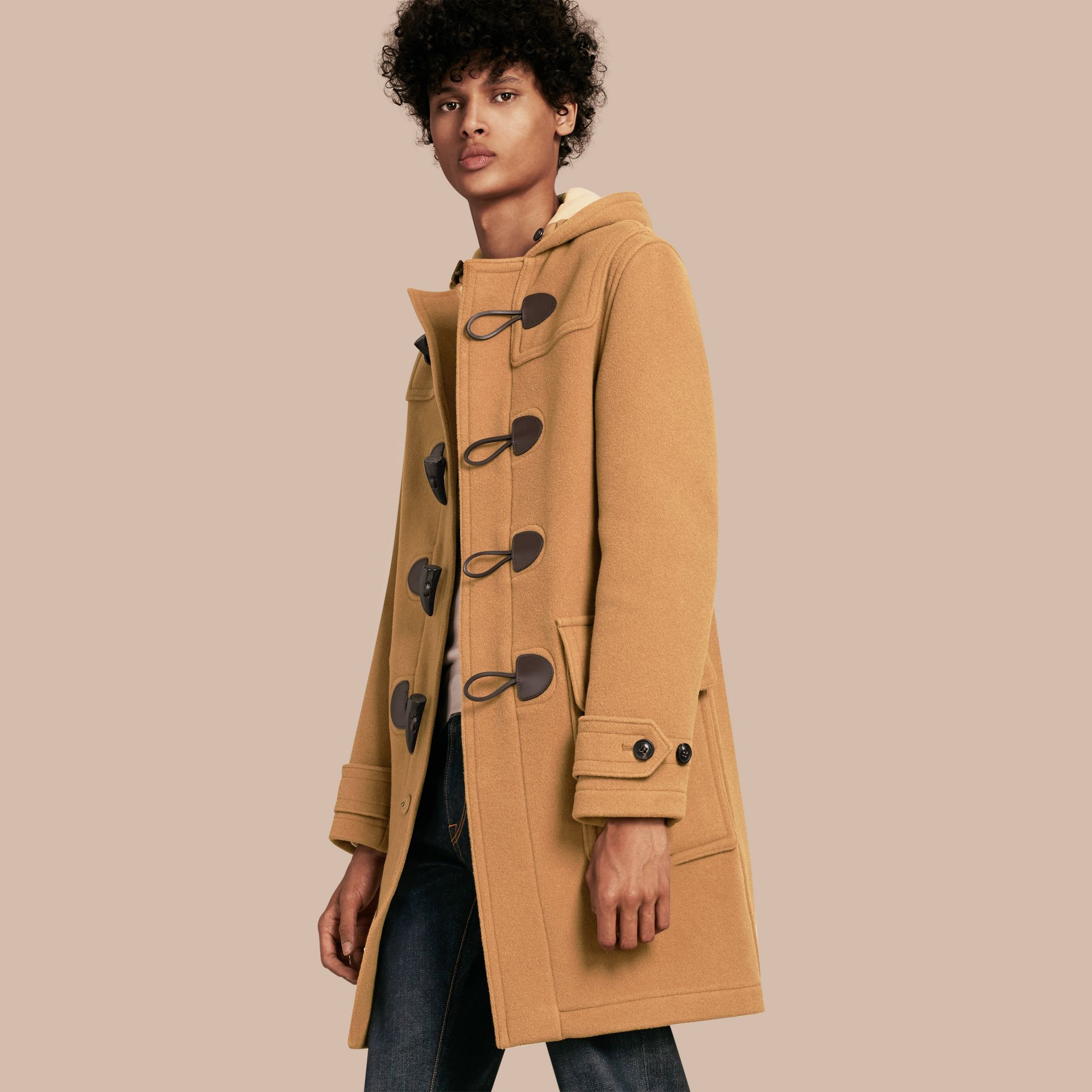 Wool-Blend Duffle Coat Camel - gallery image 1