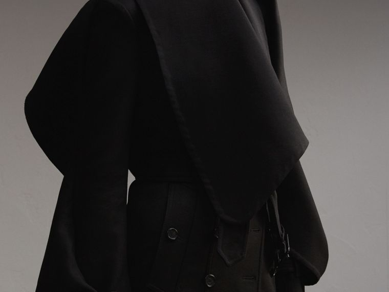 Lightweight Double-faced Wool Twill Asymmetric Coat - cell image 4