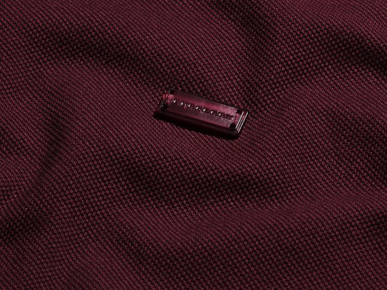 Burgundy red/black Contrast Trim Cotton Piqué Polo Shirt Burgundy Red/black - cell image 1