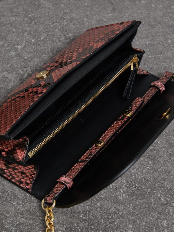 Python Wallet with Chain in Peony - Women | Burberry United Kingdom - cell image 3