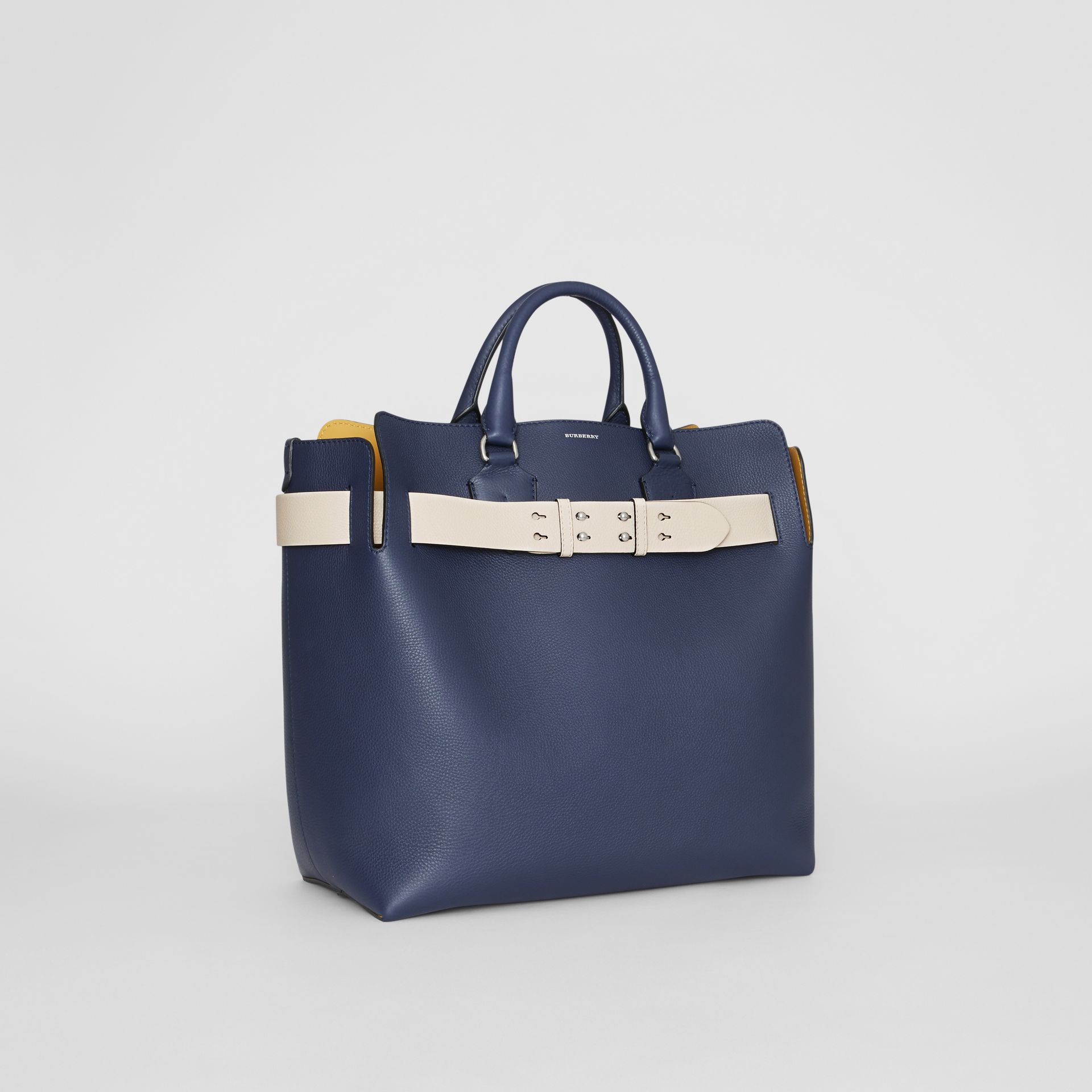 The Large Leather Belt Bag in Regency Blue - Women | Burberry - gallery image 8