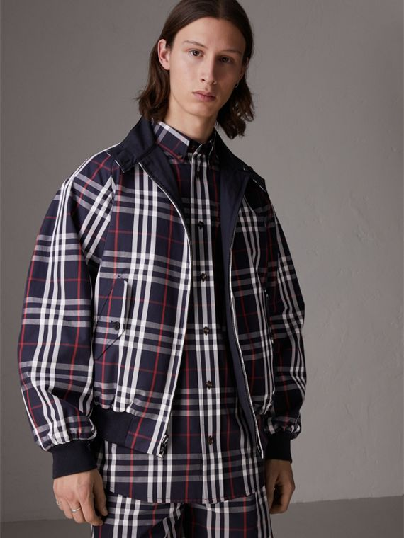 Gosha x Burberry Reversible Harrington Jacket in Navy | Burberry United Kingdom - cell image 2