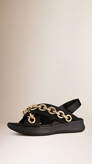 Chain-embellished Sport Sandals