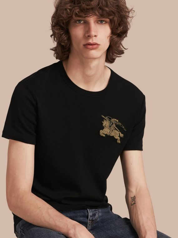 Cotton Wool Blend T-shirt Black