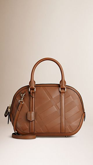 The Small Orchard in Embossed Check Leather