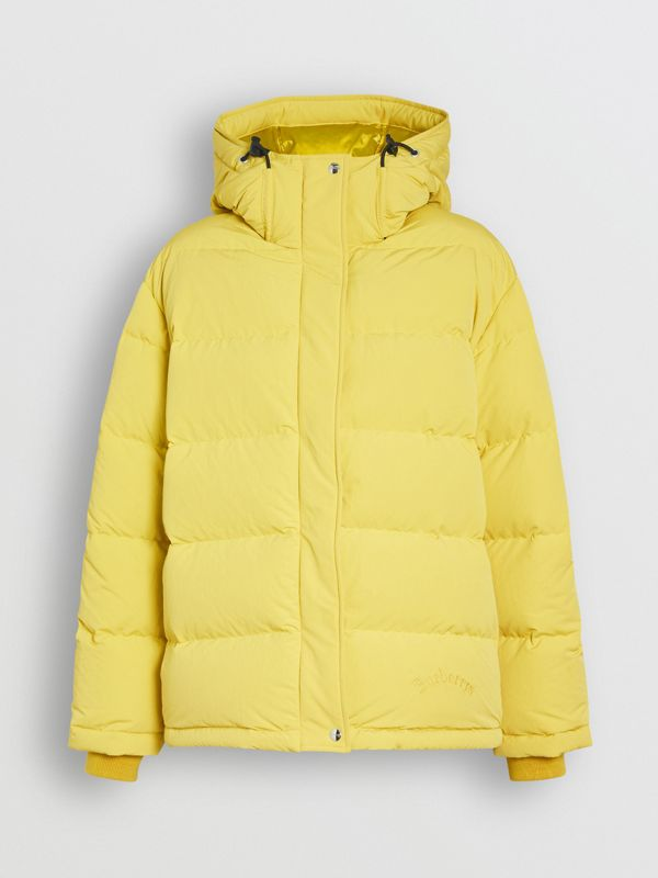 Archive Logo Down-filled Hooded Puffer Jacket in Dandelion - Women | Burberry - cell image 3