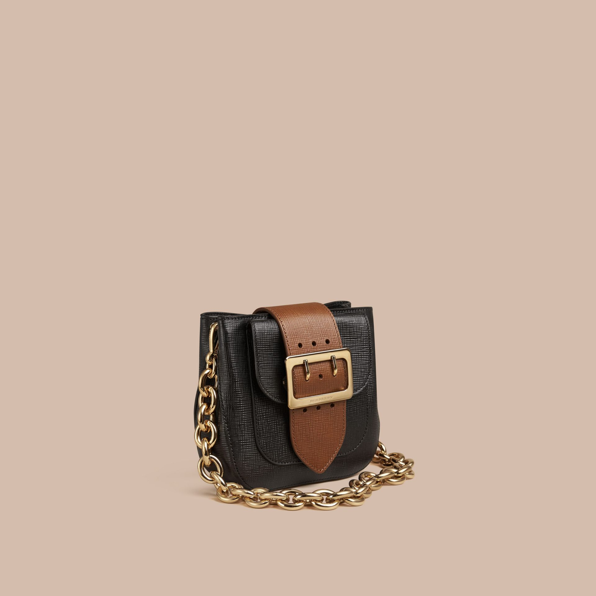 Black The Small Square Buckle Bag in Leather - gallery image 1