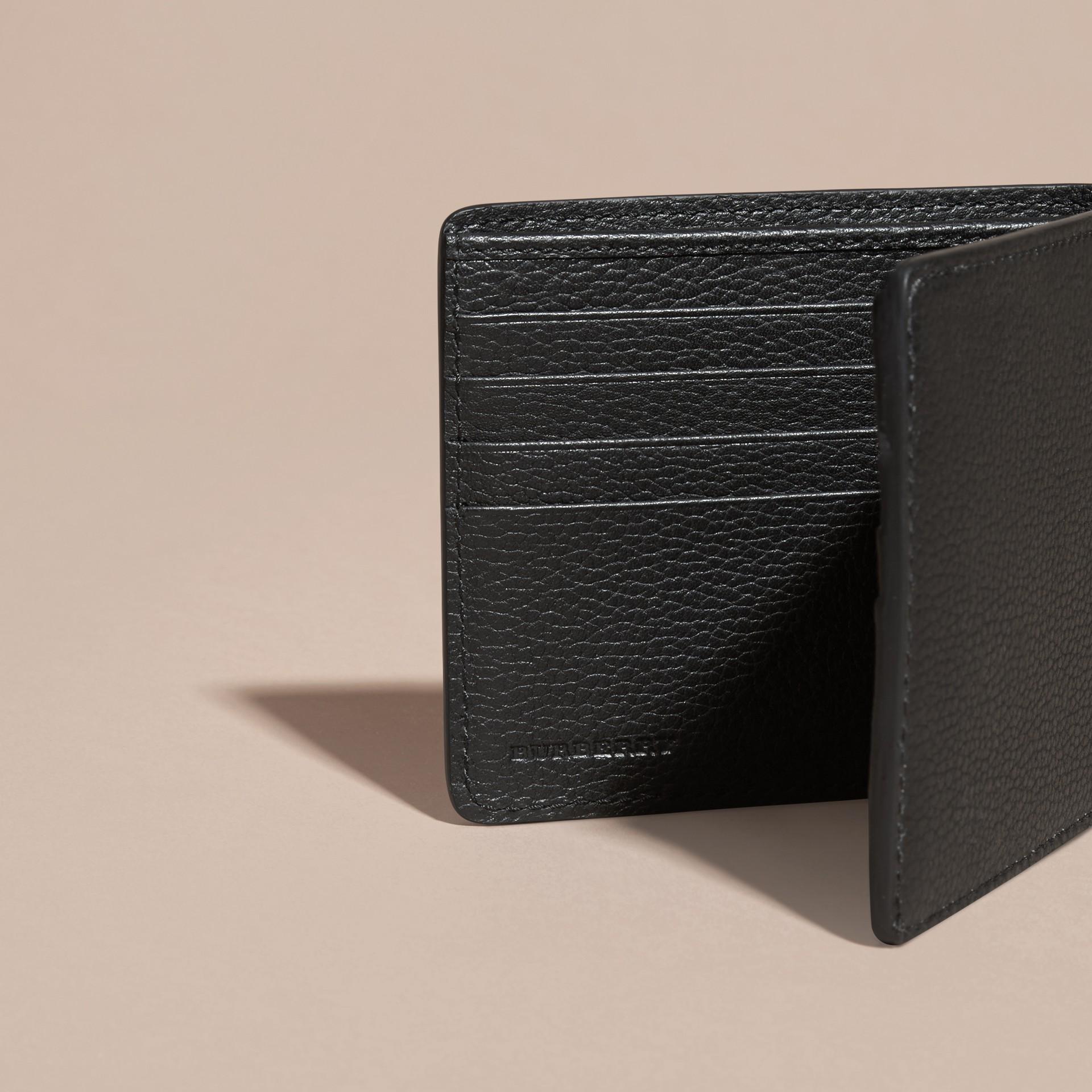 Черный Складной бумажник из кожи Черный - изображение 5