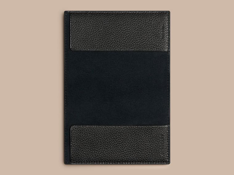 Grainy Leather Passport Cover in Black | Burberry - cell image 2
