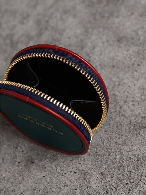 Creature Appliqué Leather Coin Case in Dark Racing Green - Men | Burberry - cell image 3