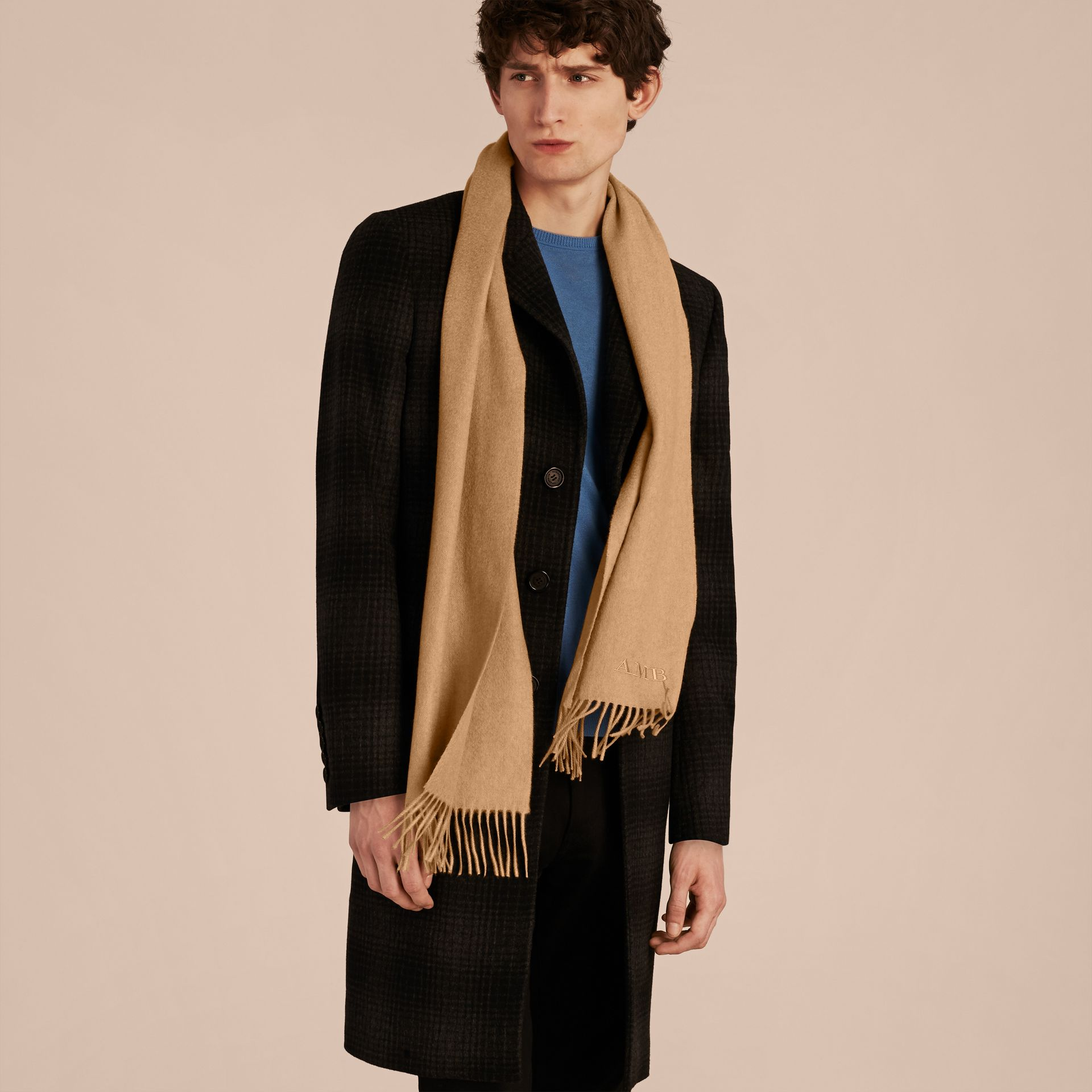 The Classic Cashmere Scarf in Camel - gallery image 4