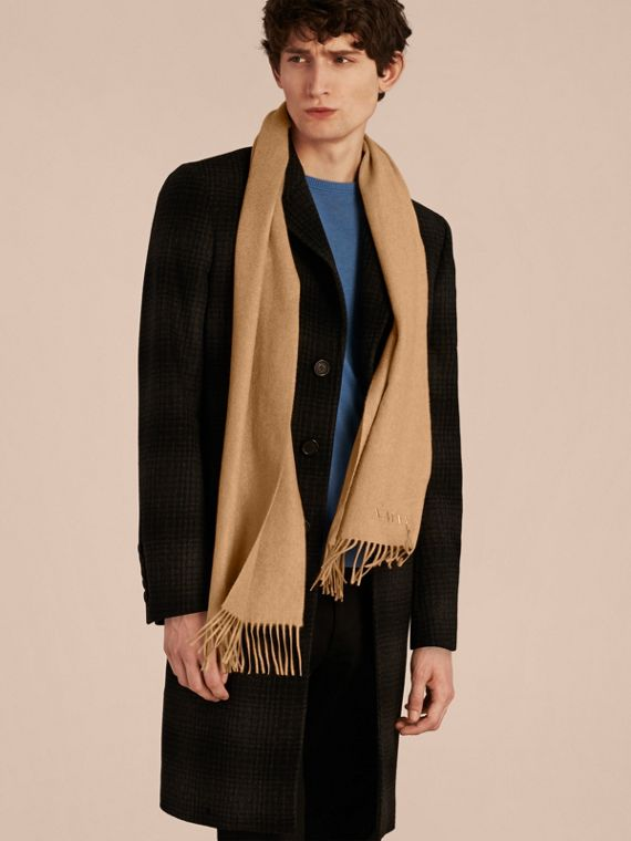 The Classic Cashmere Scarf in Camel | Burberry Australia - cell image 3