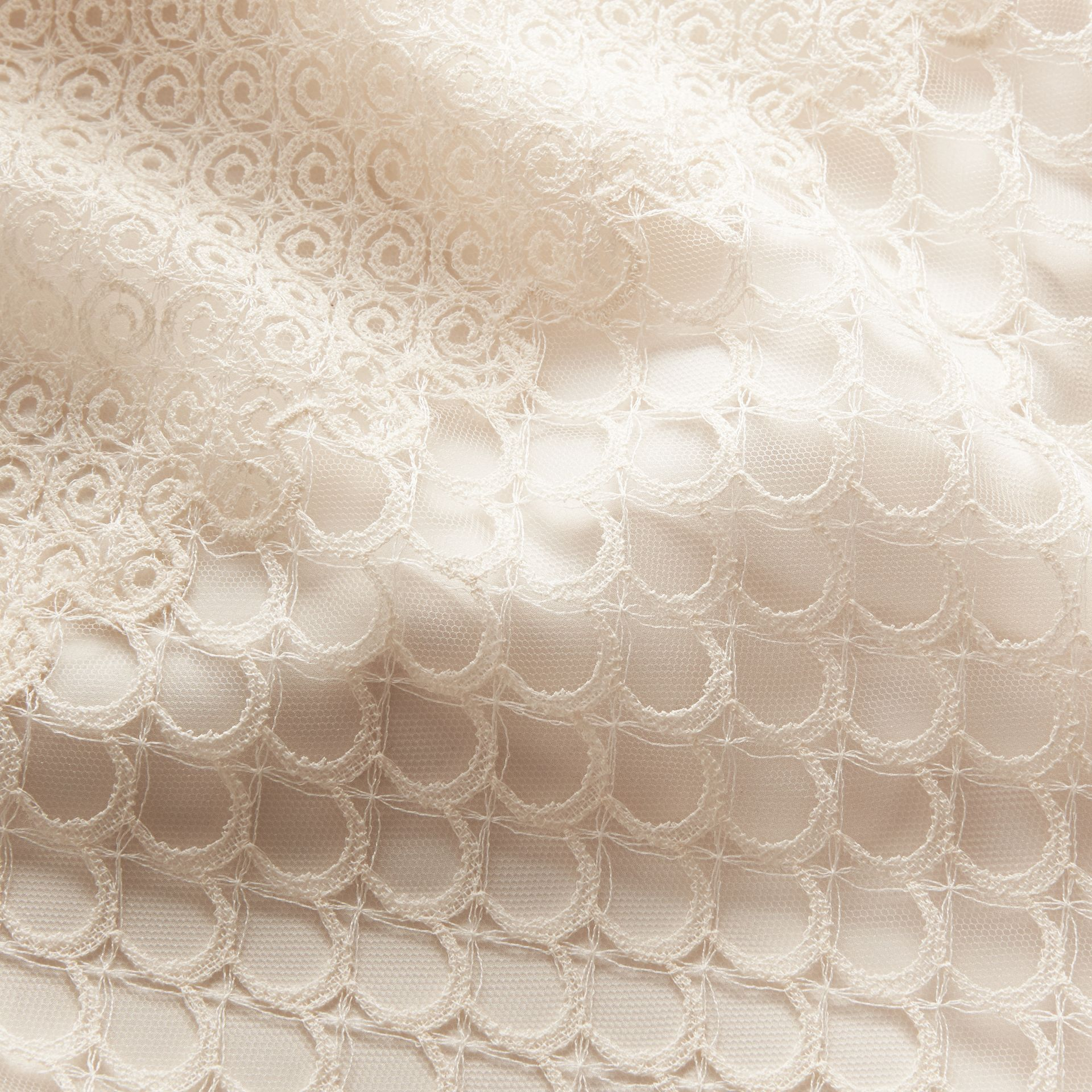 Macramé Lace Peplum Skirt in Natural White - Women | Burberry - gallery image 2