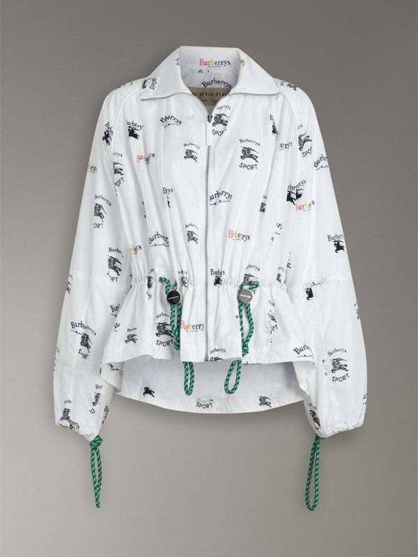 Triple Archive Logo Print Shell Jacket in Multicolour - Women | Burberry Singapore - cell image 3