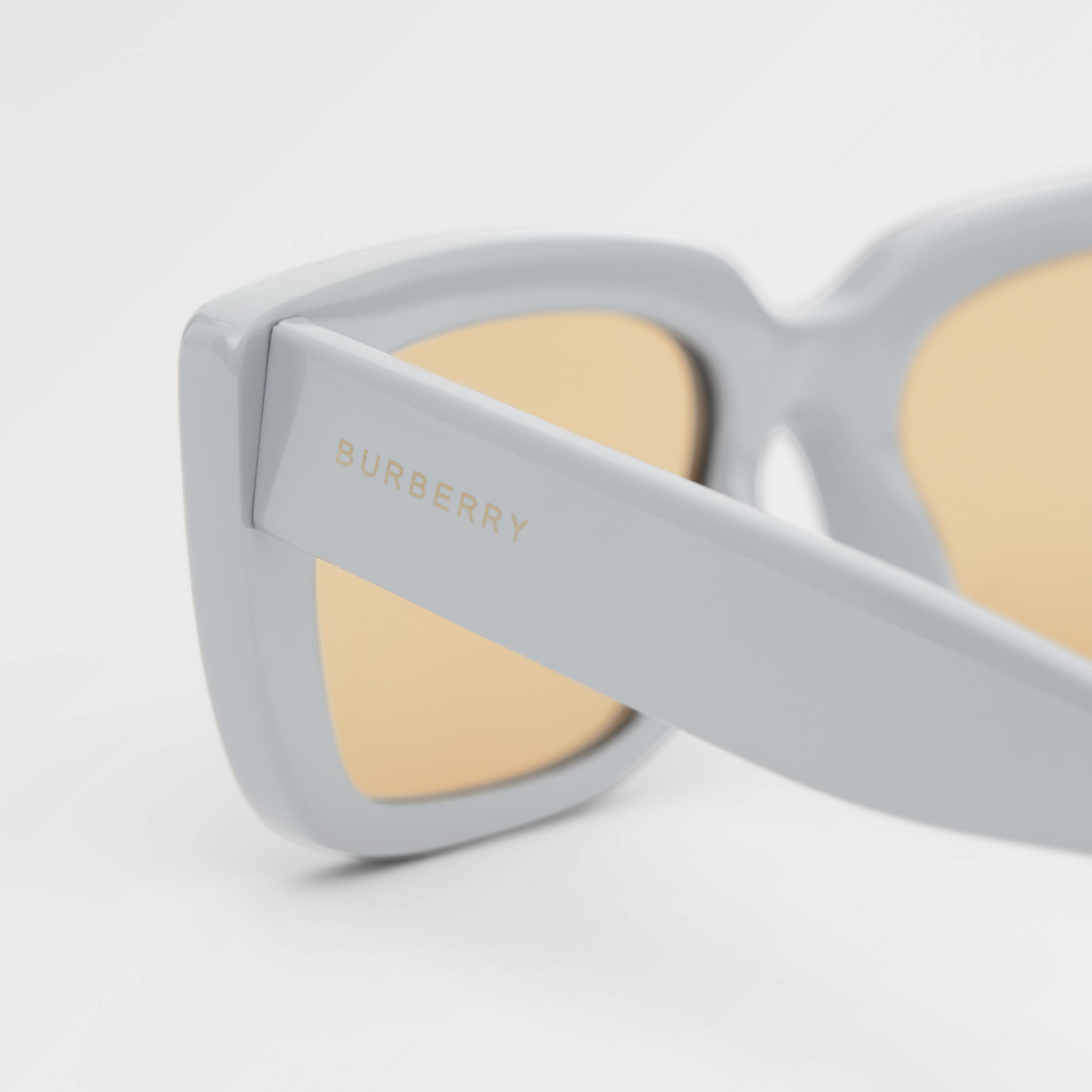 Bio-acetate Rectangular Frame Sunglasses in Grey - Women | Burberry - 2