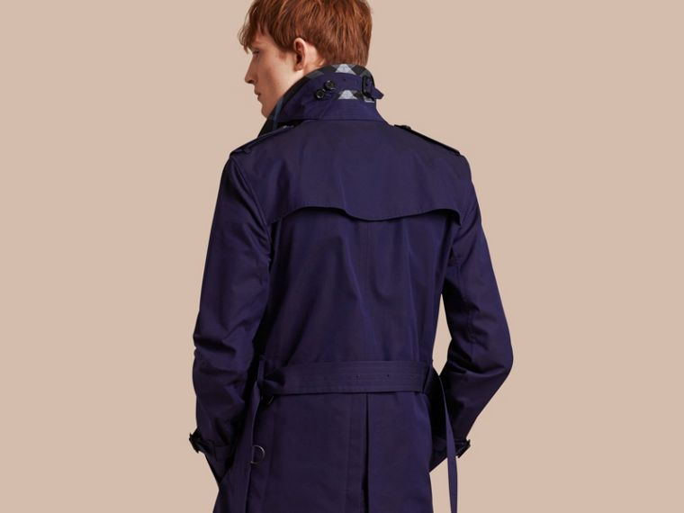 Blueberry Cotton Gabardine Trench Coat Blueberry - cell image 1