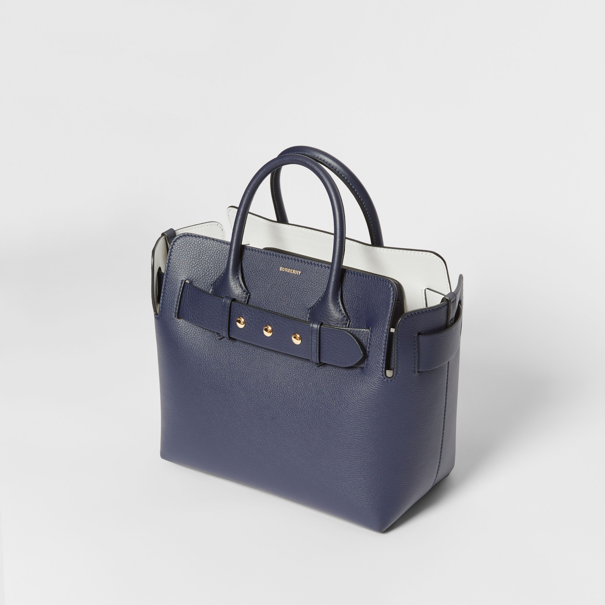 The Small Leather Triple Stud Belt Bag in Regency Blue - Women | Burberry - 4