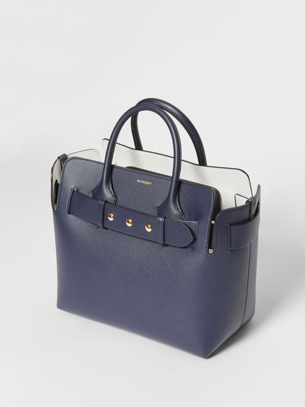 The Small Leather Triple Stud Belt Bag in Regency Blue - Women | Burberry - cell image 3