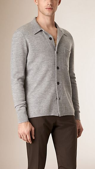 Stretch Cashmere Cardigan