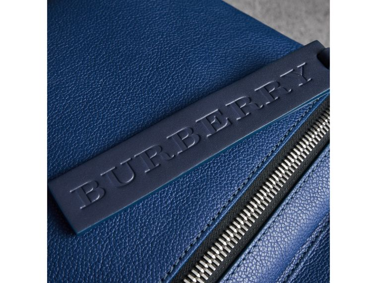 Zip-top Leather Backpack in Bright Ultramarine - Men | Burberry - cell image 1