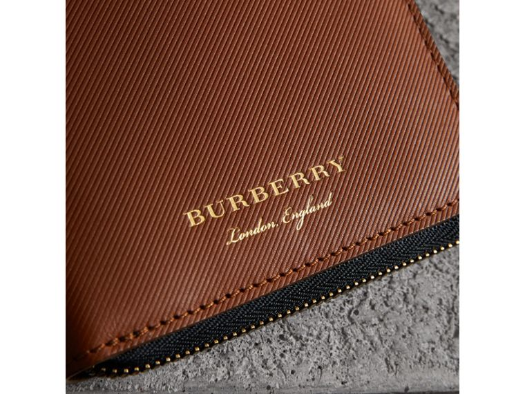 Trench Leather Ziparound Wallet in Tan - Men | Burberry Australia - cell image 1