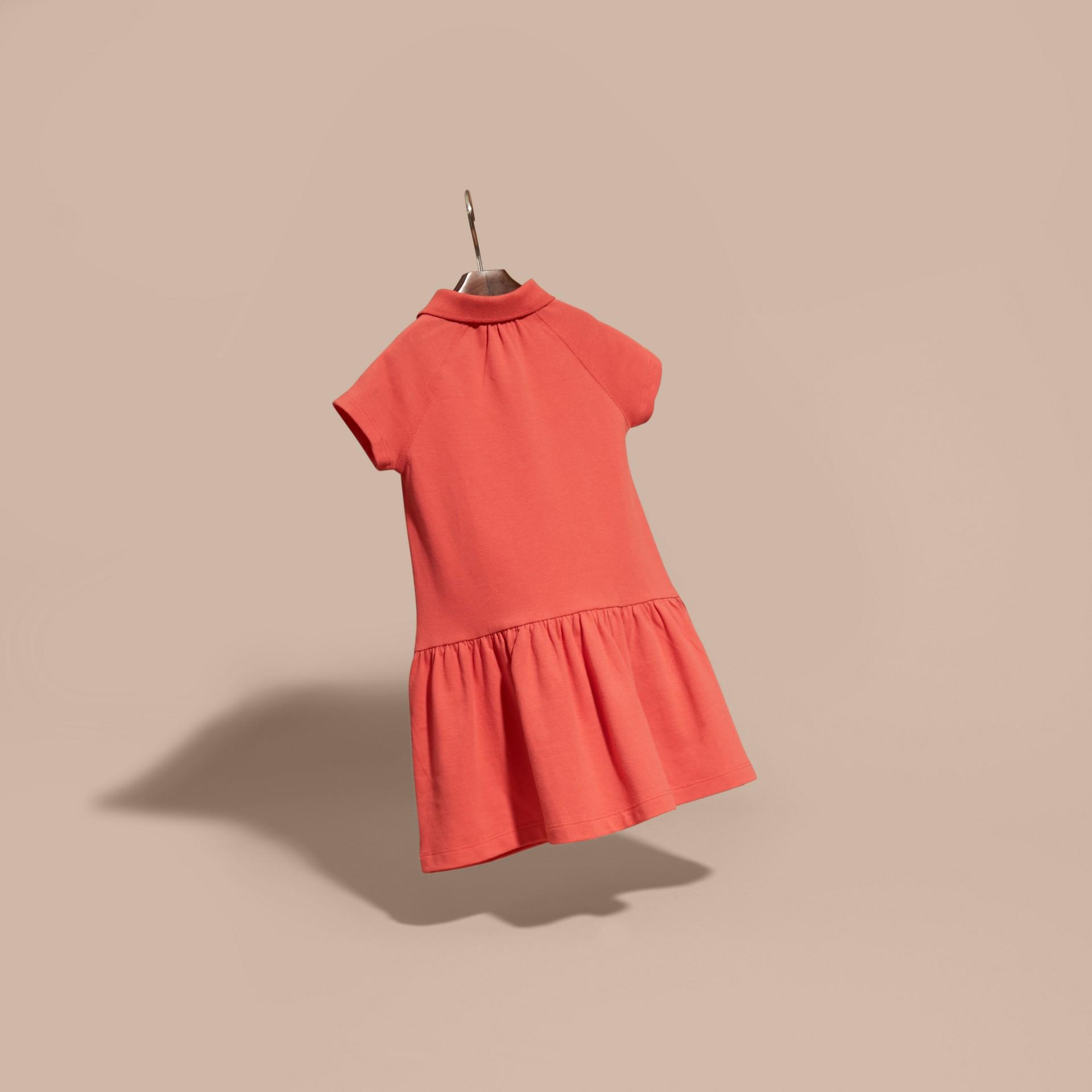 Check Placket Cotton Blend T-Shirt Dress - gallery image 4