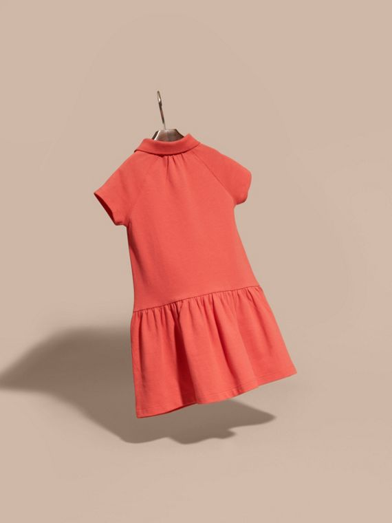 Check Placket Cotton Blend T-Shirt Dress - cell image 3