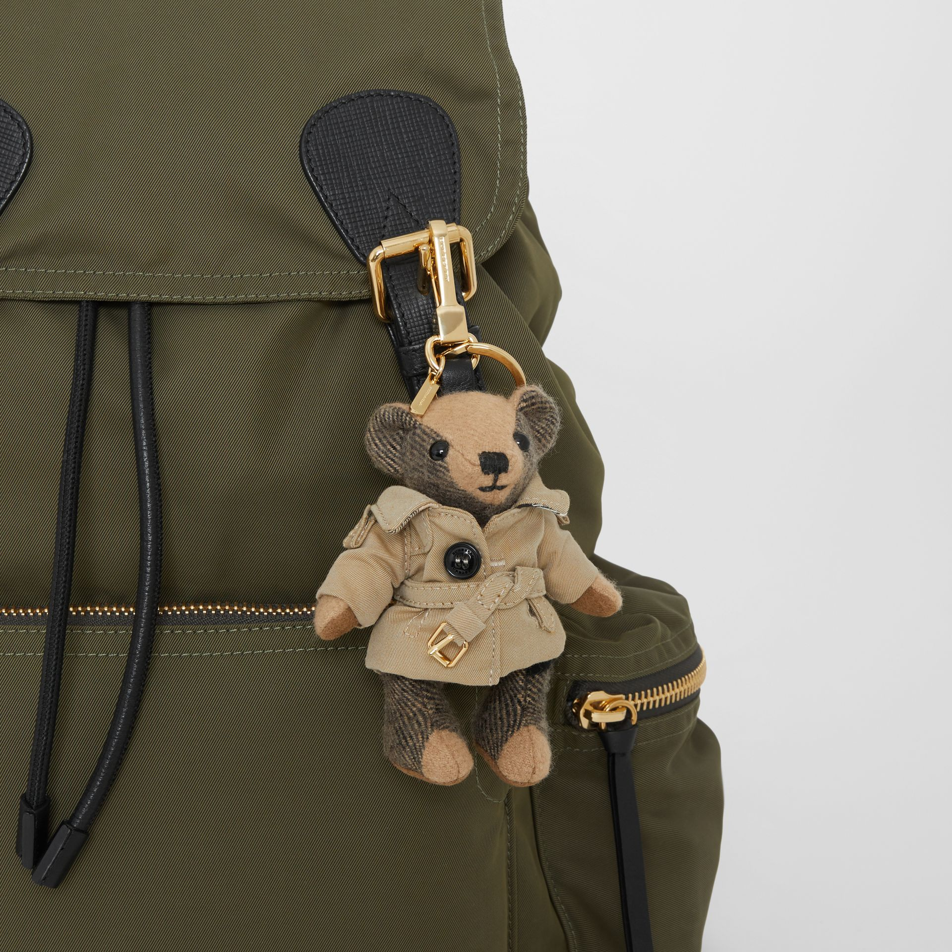 Thomas Bear Charm in Trench Coat in Camel | Burberry Singapore - gallery image 4