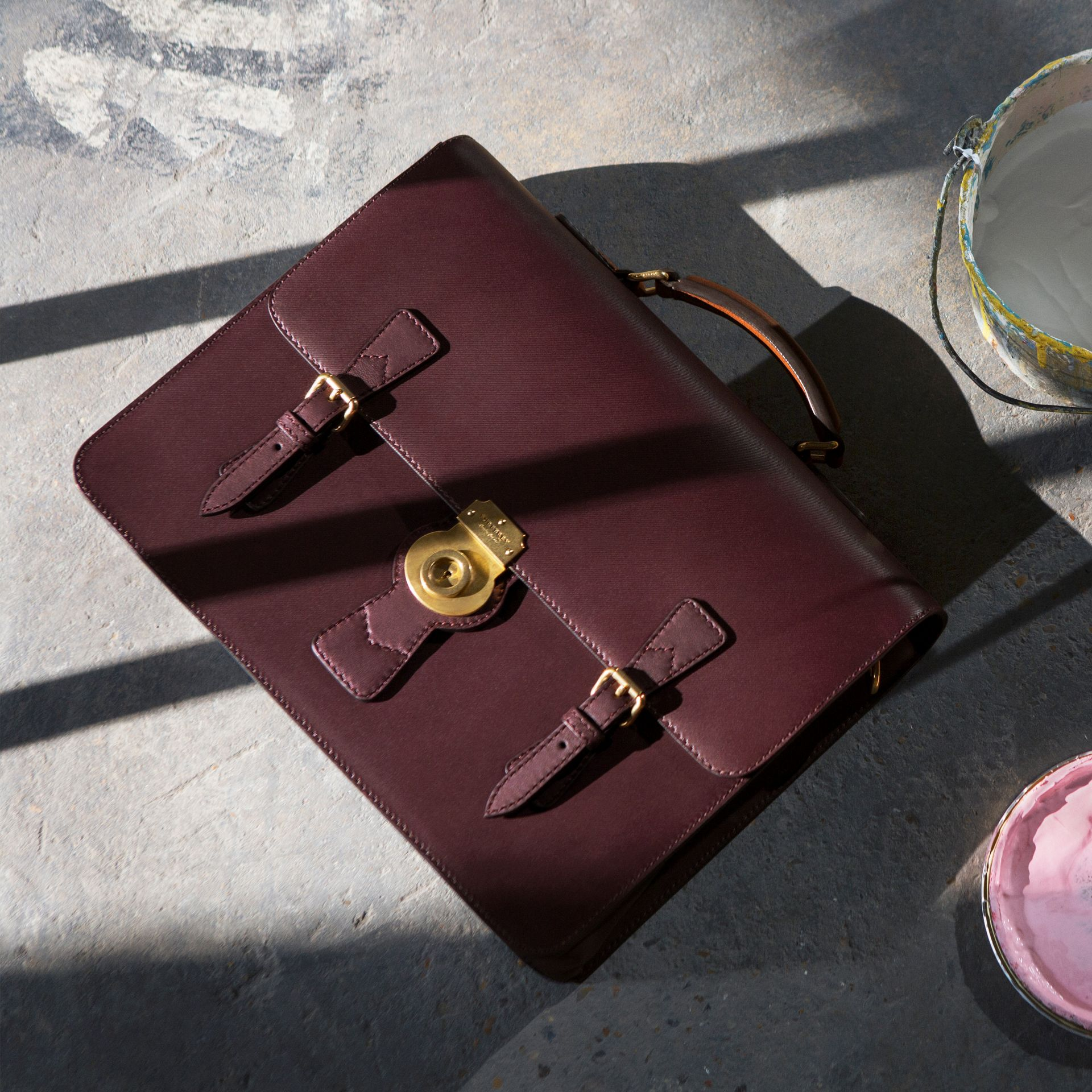 The Medium DK88 Satchel in Wine - Men | Burberry United States - gallery image 6