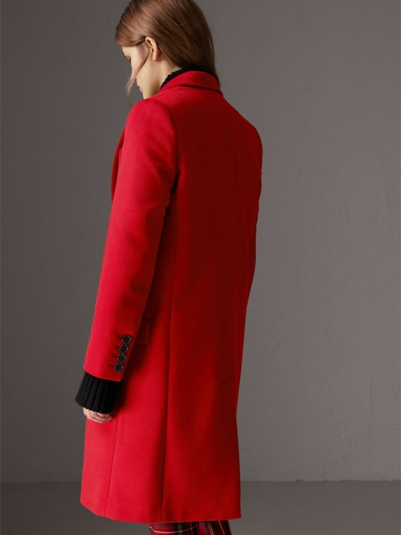 Wool Cashmere Tailored Coat in Parade Red - Women | Burberry - cell image 2