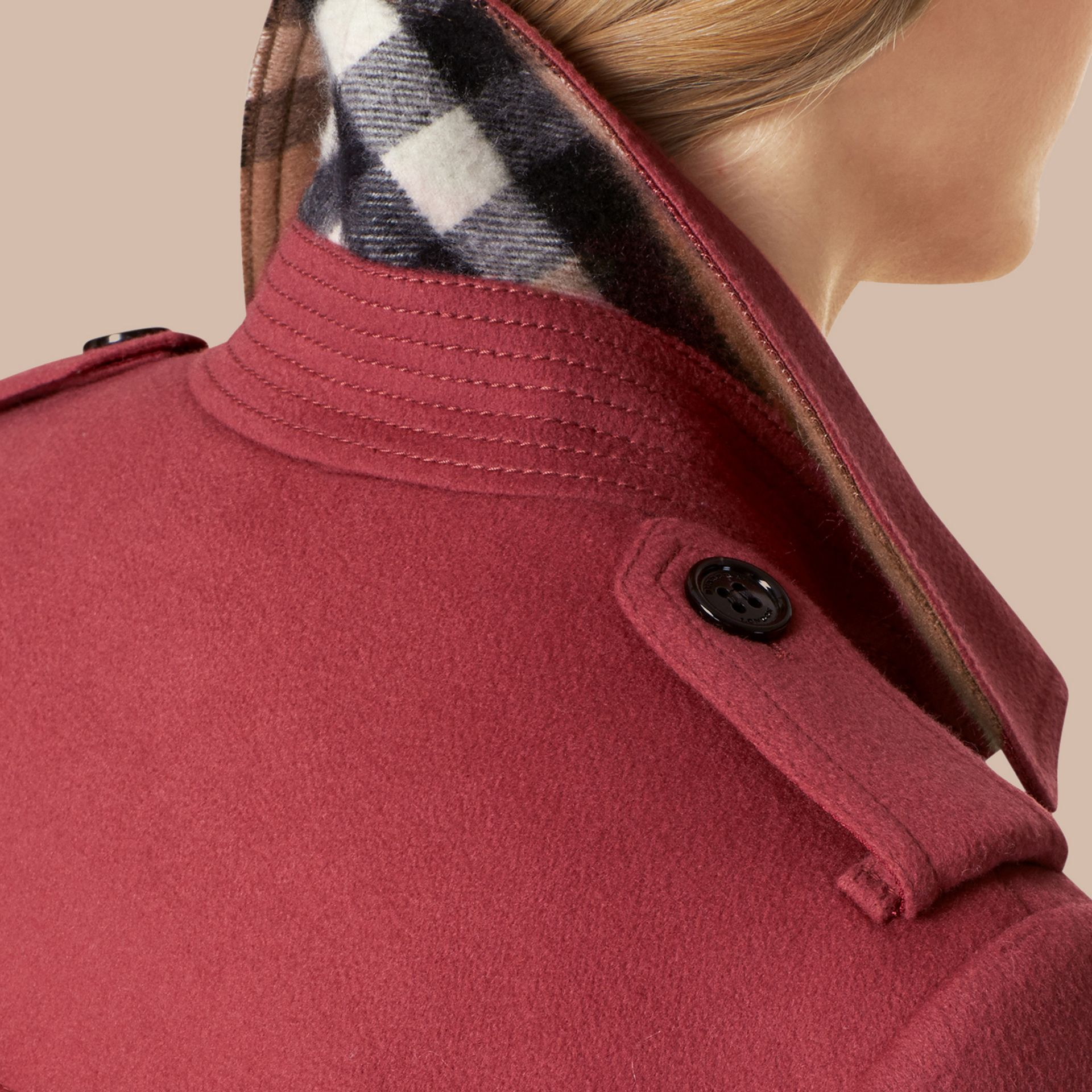 Sandringham Fit Cashmere Trench Coat - gallery image 4