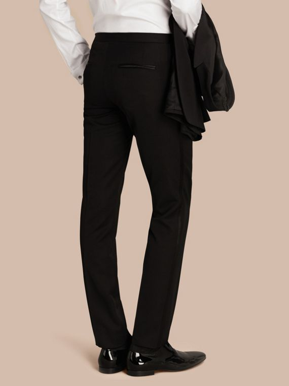 Black Virgin Wool Tuxedo Trousers Black - cell image 2