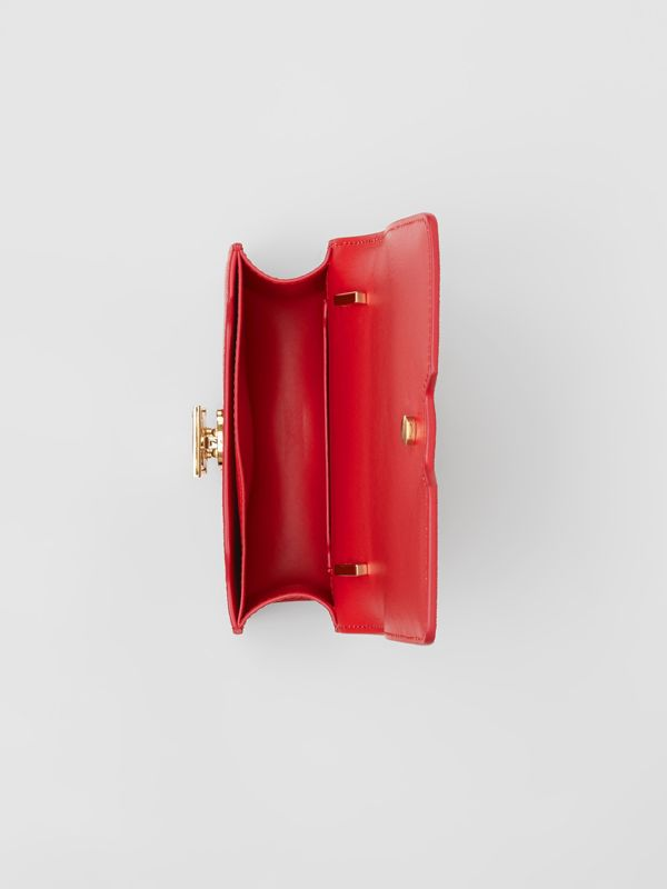 Mini Grainy Leather TB Bag in Bright Red - Women | Burberry United States - cell image 3
