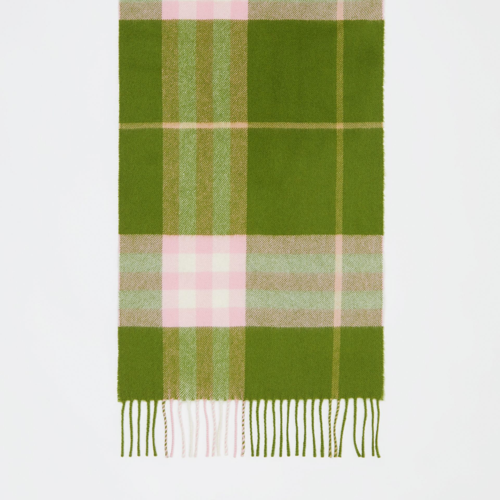 The Classic Check Cashmere Scarf in Cedar Green | Burberry - gallery image 4