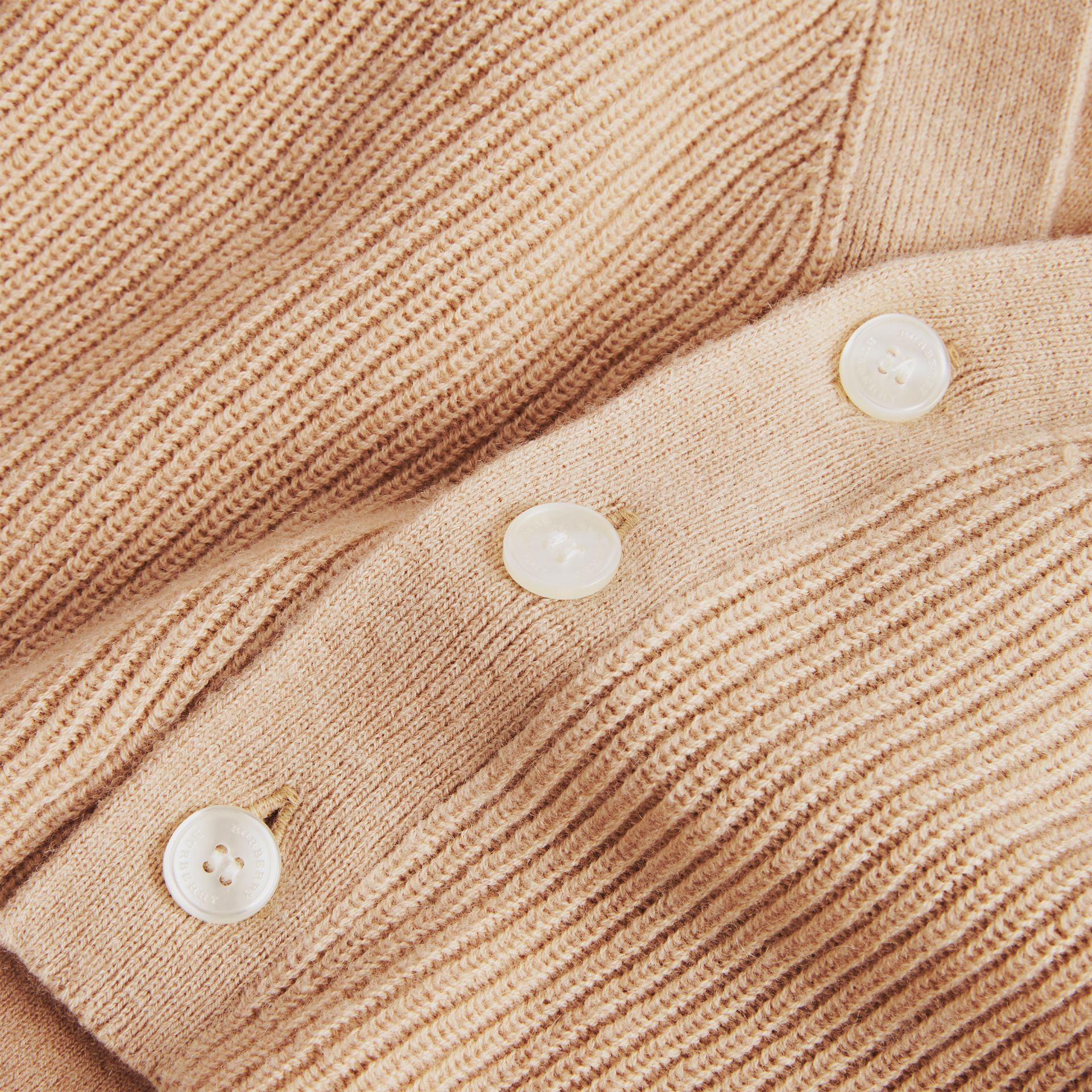 Cashmere Cotton Knit Cardigan in Peach - Children | Burberry - gallery image 1
