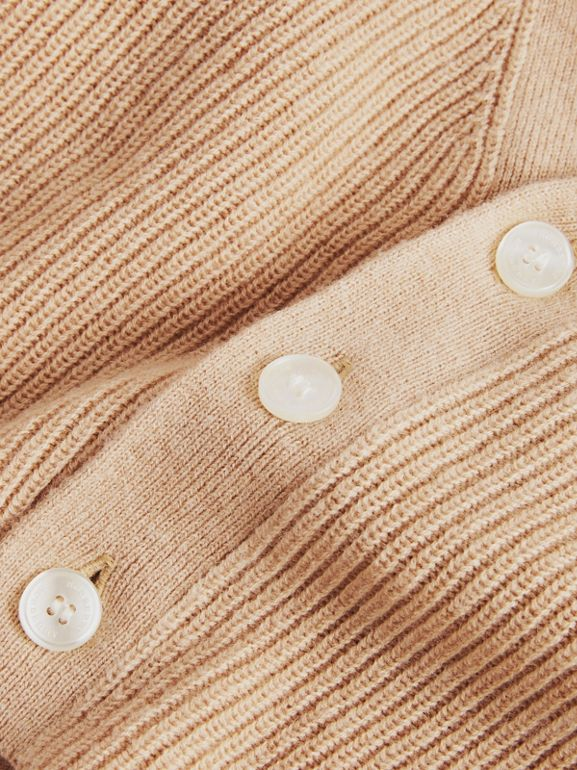 Cashmere Cotton Knit Cardigan in Peach - Children | Burberry United Kingdom - cell image 1