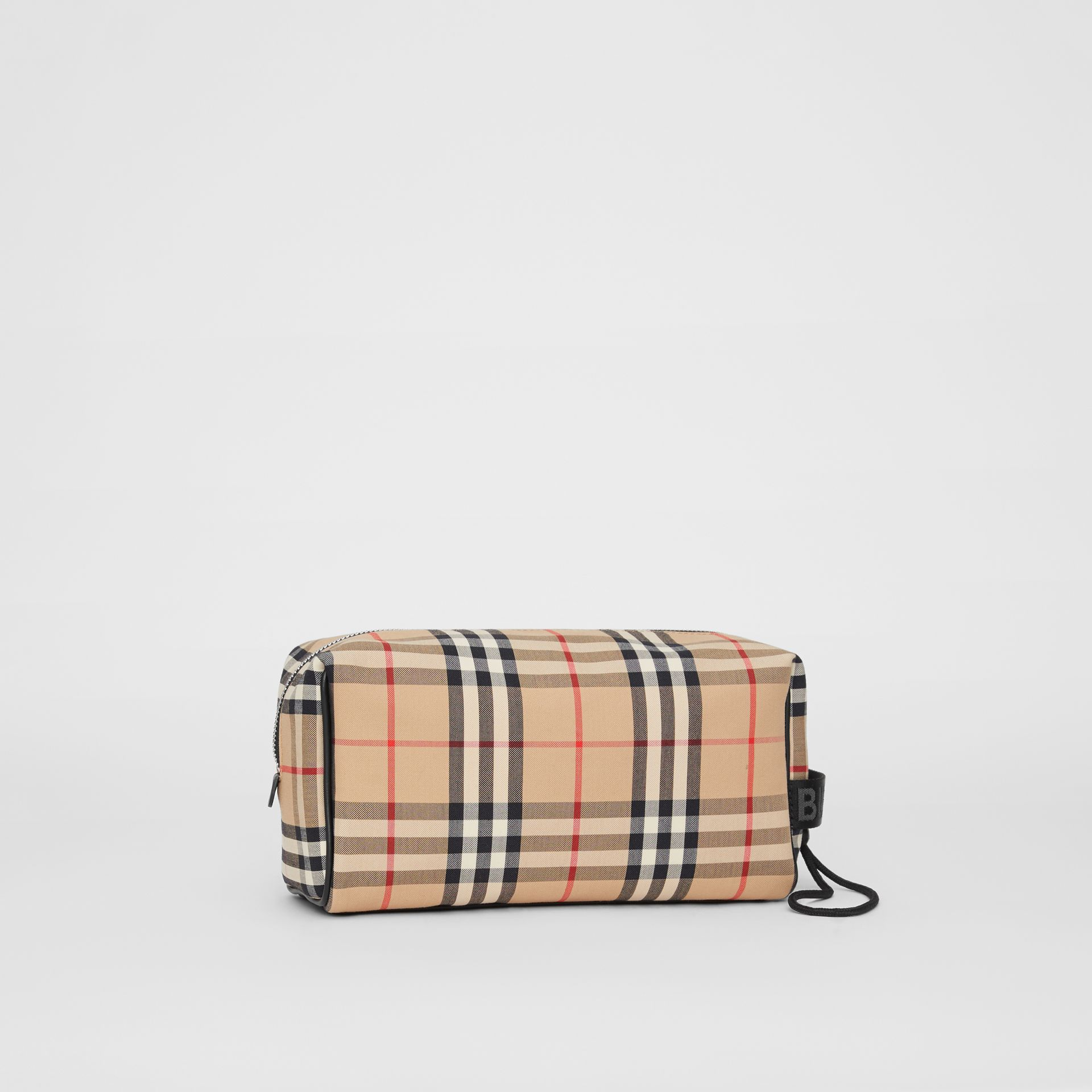 Vintage Check and Leather Pouch in Archive Beige | Burberry Hong Kong S.A.R - gallery image 6