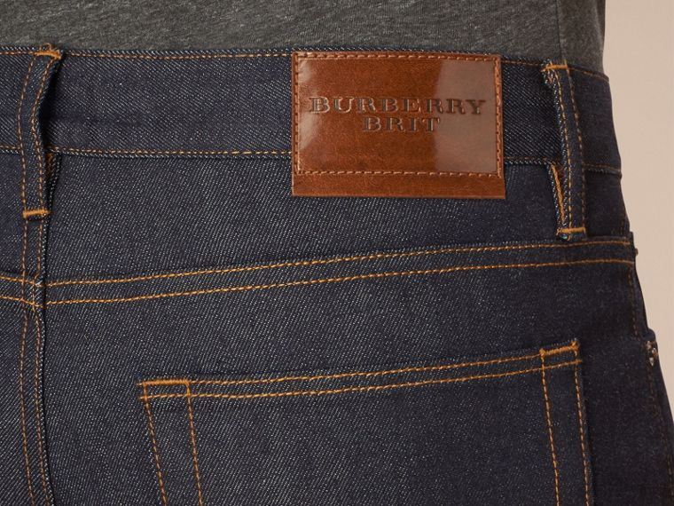 Dark indigo Straight Fit Selvedge Jeans - cell image 1