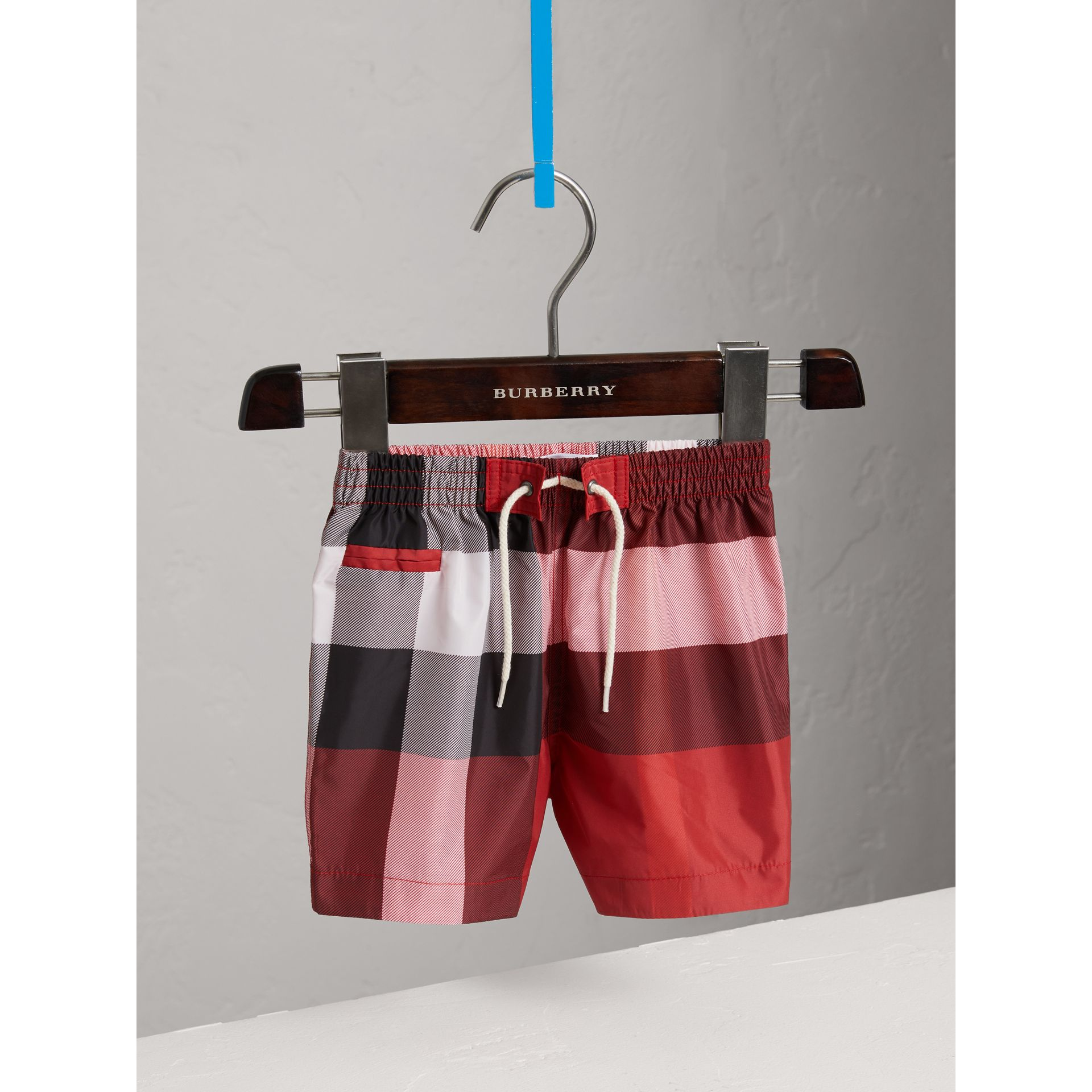 Check Swim Shorts in Parade Red | Burberry United States - gallery image 0