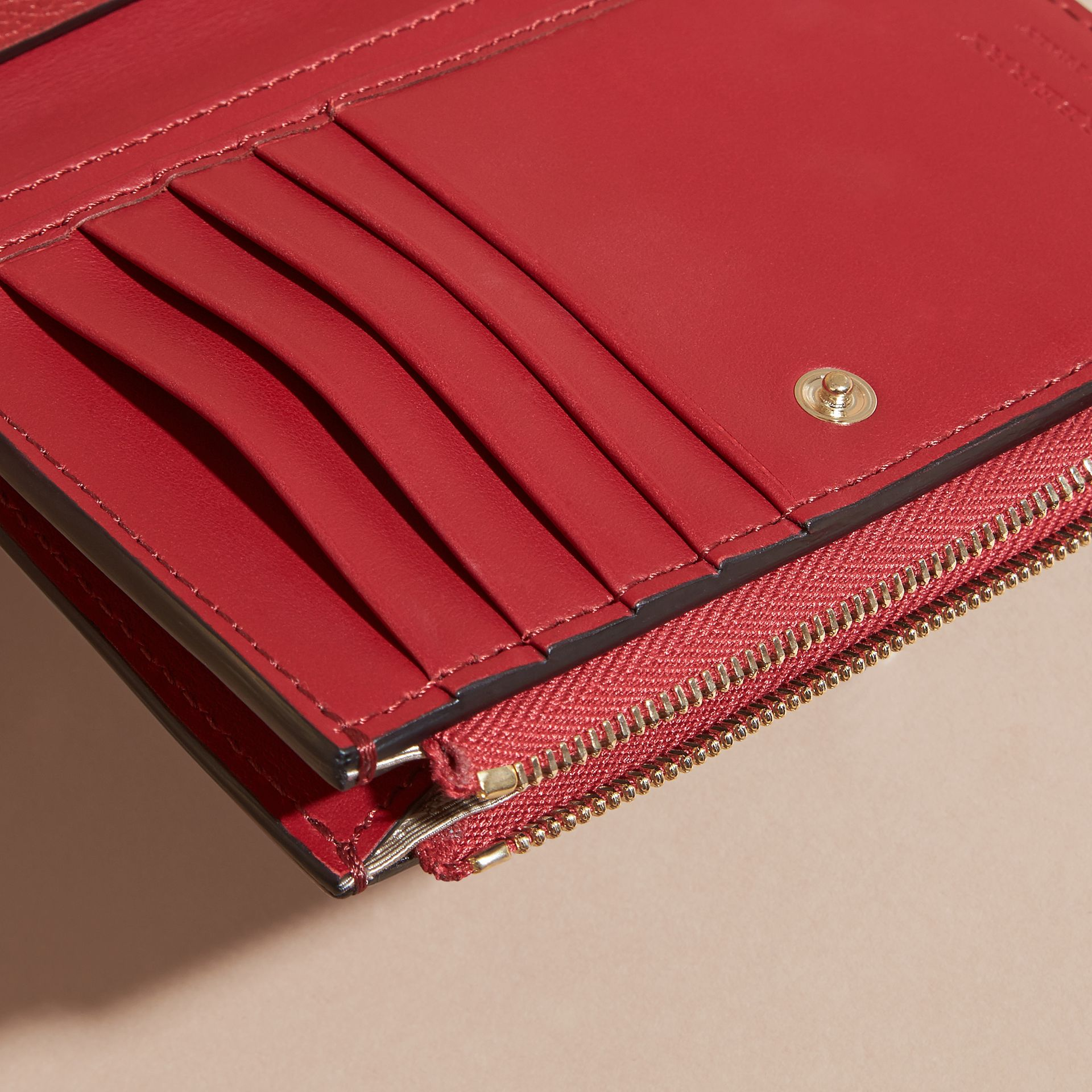 Leather Passport Wallet in Parade Red - gallery image 2