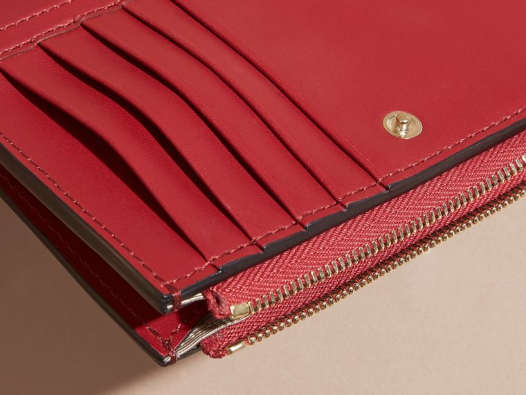 Leather Passport Wallet in Parade Red - cell image 1