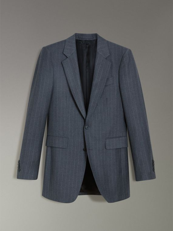 Slim Fit Pinstripe Wool Cashmere Suit in Mid Grey - Men | Burberry United States - cell image 3
