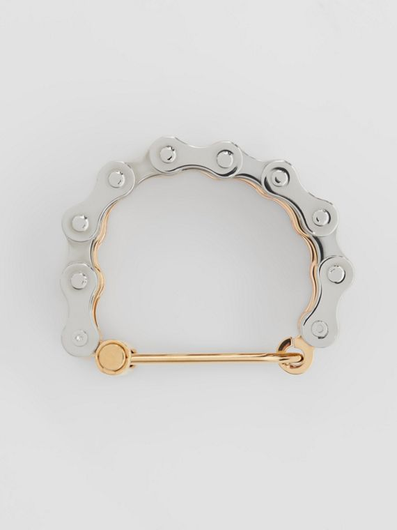 Bicycle Chain Gold and Rose Gold-plated Bracelet in Gold/pallad