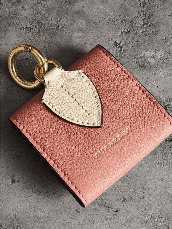 Small Square Leather Coin Case Charm in Dusty Rose/limestone - Women | Burberry - cell image 2