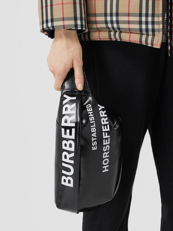 Medium Horseferry Print Bum Bag in Black | Burberry United Kingdom - cell image 2