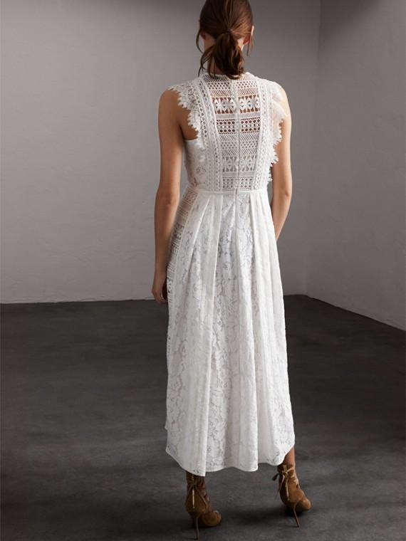 Платье без рукавов из кружева макраме - Для женщин | Burberry - cell image 2