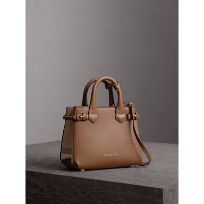 The Baby Banner in Leather and House Check in Tan - Women | Burberry United  States