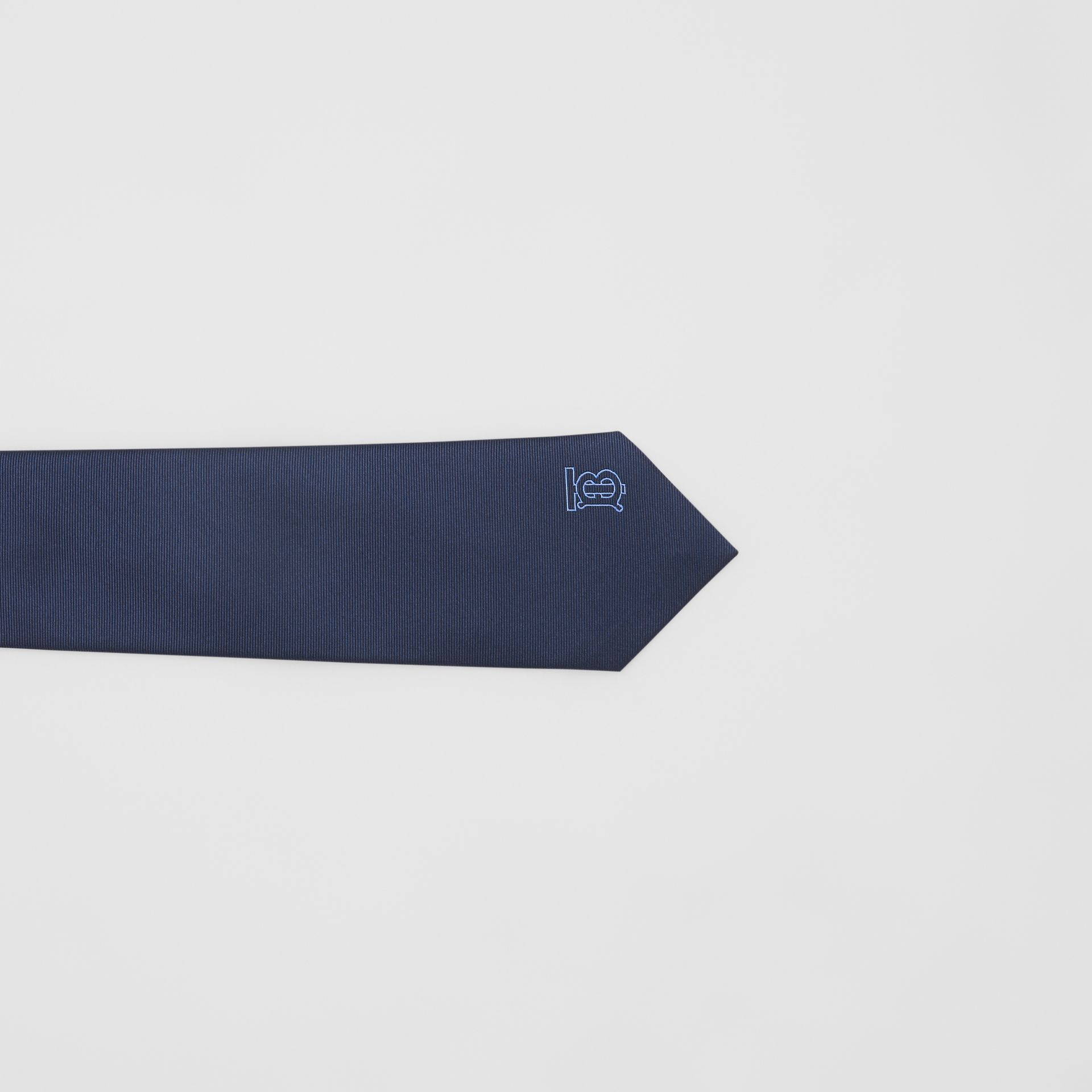 Classic Cut Monogram Motif Silk Tie in Bright Navy - Men | Burberry United Kingdom - gallery image 1
